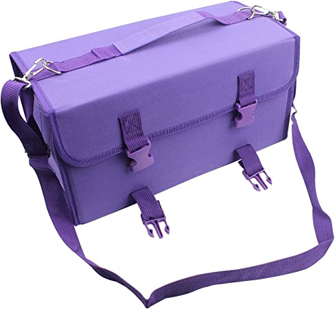 Niutop 120 Slots Marker Pen Case Markers Carrying Bag Holder For Alcohol Marker And Art Sketch Marker Permanent Paint Marker Dry Erase Marker Repair Marker Pen Color Highlighter 120 Purple Home