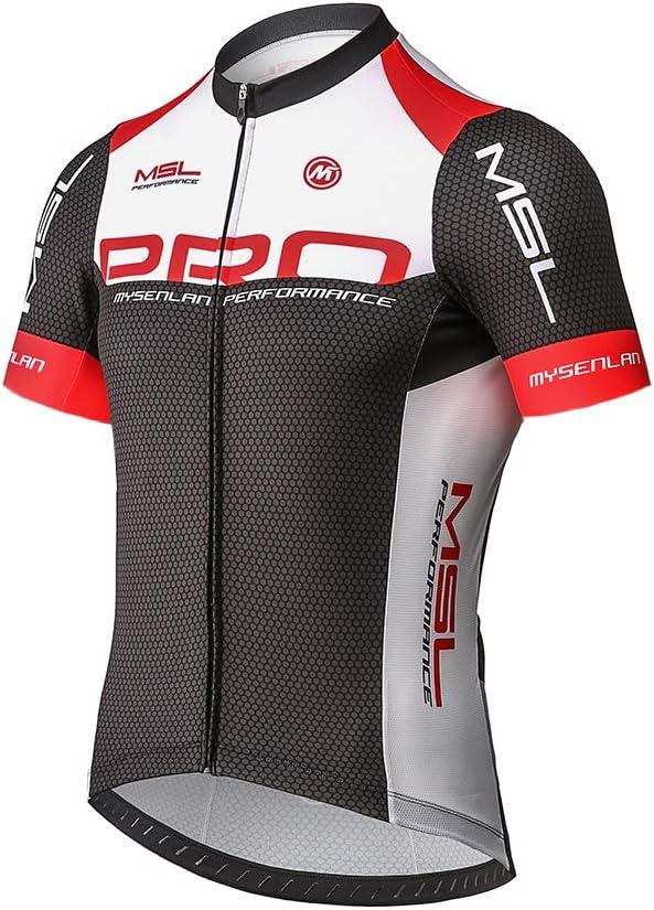 Mysenlan Maillot de Ciclismo Hombre Camiseta Manga Corta Jersey Ropa para Bicicleta Verano MTB Camisa: Amazon.es: Deportes y aire libre