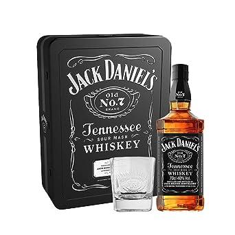 Jack Daniel S Tennessee Whisky In Metallkassette Mit 2 Glasern 1 X 0 7 L