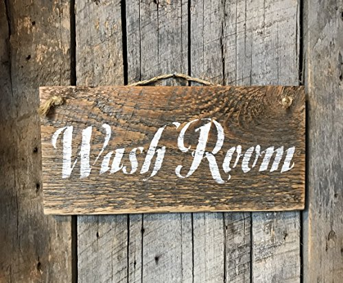Rustic Wash Room Barn Wood Sign (Cottage Wall Plaque)