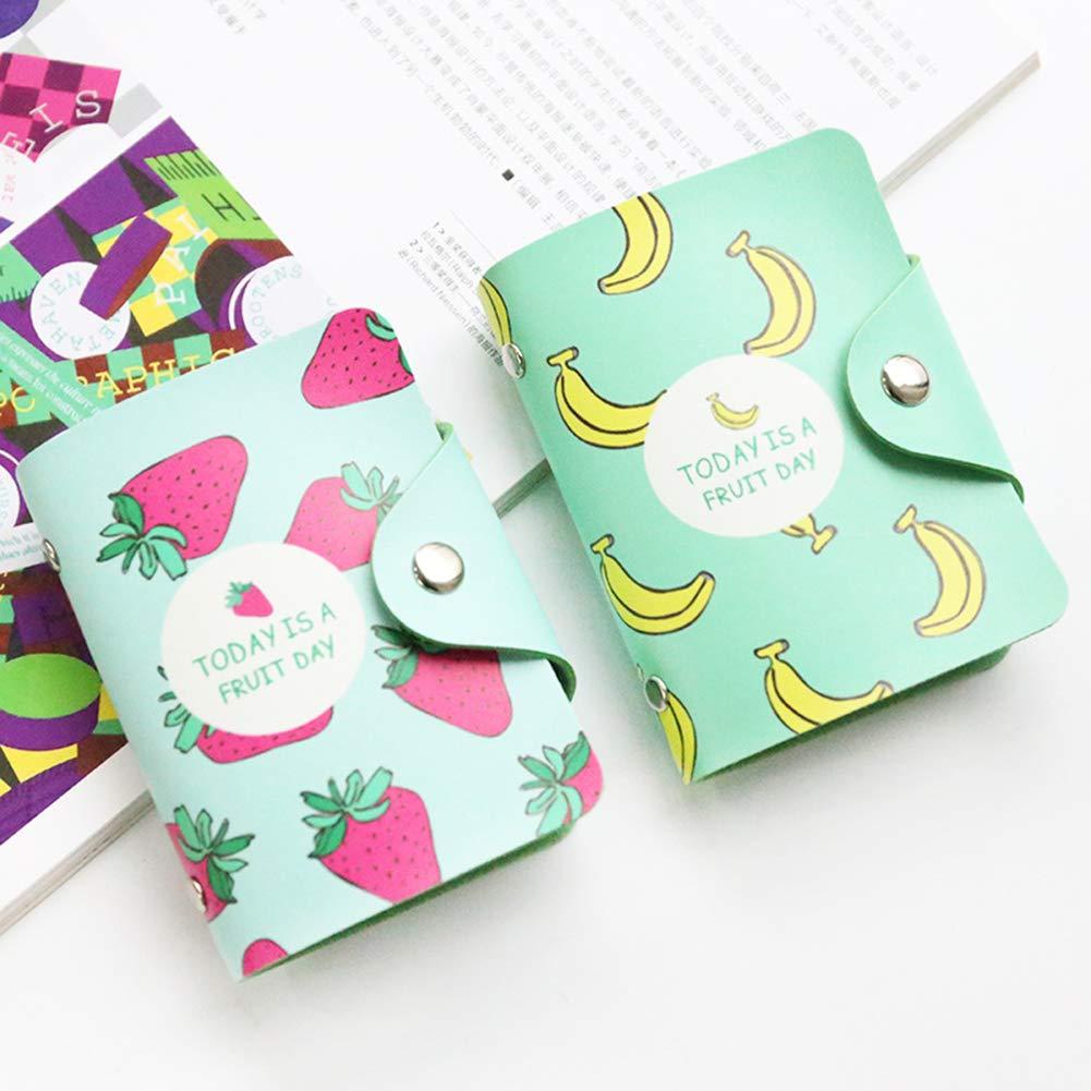 Himpokejg Fashion Letter Fruit Printed Anti-degaussing Card Holder Bag Case Girls Gift-1# by Himpokejg (Image #4)