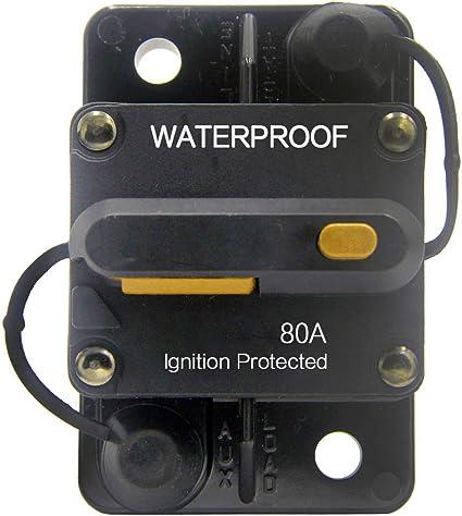 12V 24V DC Circuit Breaker Inline Fuse Inverter Waterproof Manual Reset 300Amp