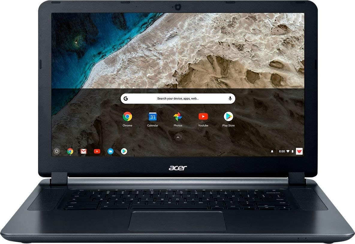 2018 Acer 15.6 HD WLED Chromebook 15 with 3X Faster WiFi Laptop Computer, Intel Celeron Core N3060 up to 2.48GHz, 4GB RAM, 16GB eMMC, 802.11ac WiFi, Bluetooth 4.2, USB 3.0, HDMI, Chrome OS