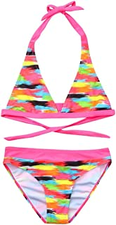 HEETEY Girls' Swimsuit Summer Bikini Beach Print Swimsuit+Shorts Swimwear Set Outfit for Toddler Kids Baby Girl Pool Beach Bathing Suit Multicolor