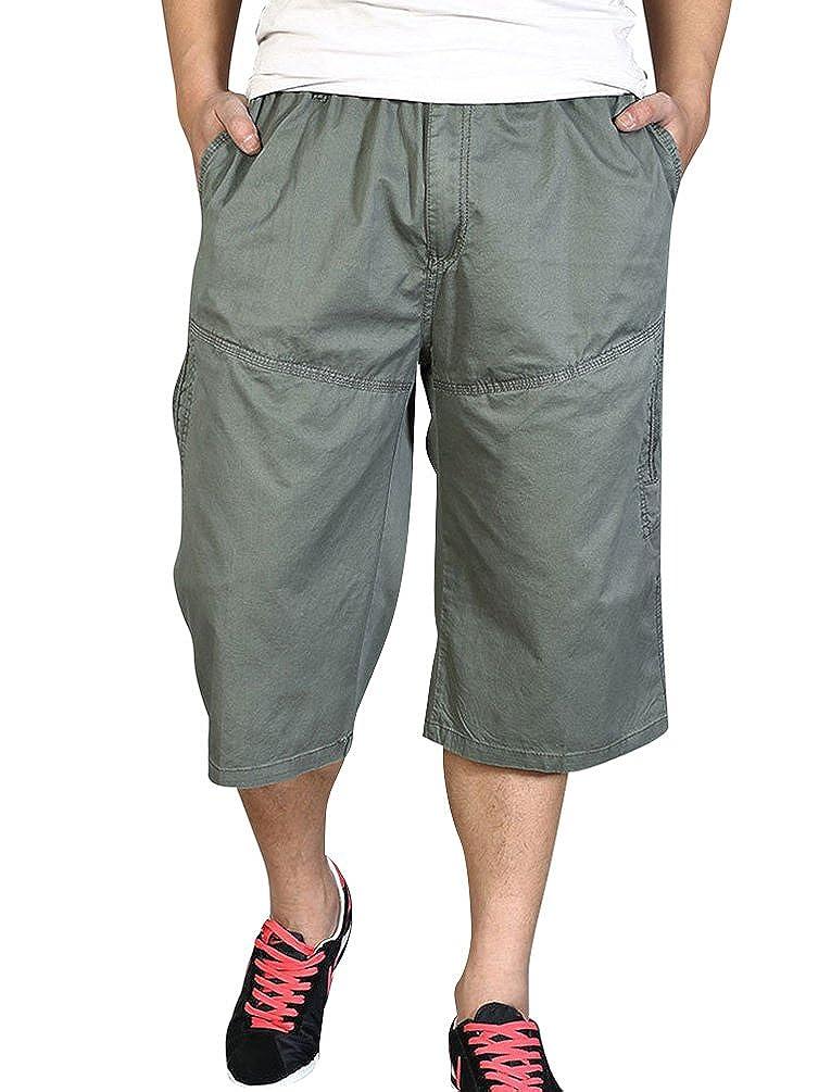 a0abd181103d NiSeng Herren Bermudas Shorts Loose Fit Freizeithosen Knielang mit  Dehnbund  Amazon.de  Bekleidung