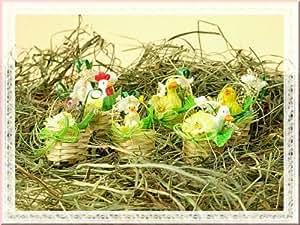 Figura en cesta para colgar como decoración NUEVO, precio 6unidades.