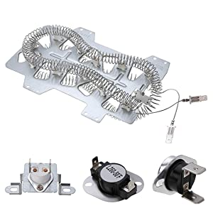 Dryer Repair Kit Replacement for Samsung Dryer, Heater Element (DC47-00019A), Thermal Fuse( DC96-00887A) and (DC47-00016A), Thermostat (DC47-00018A )