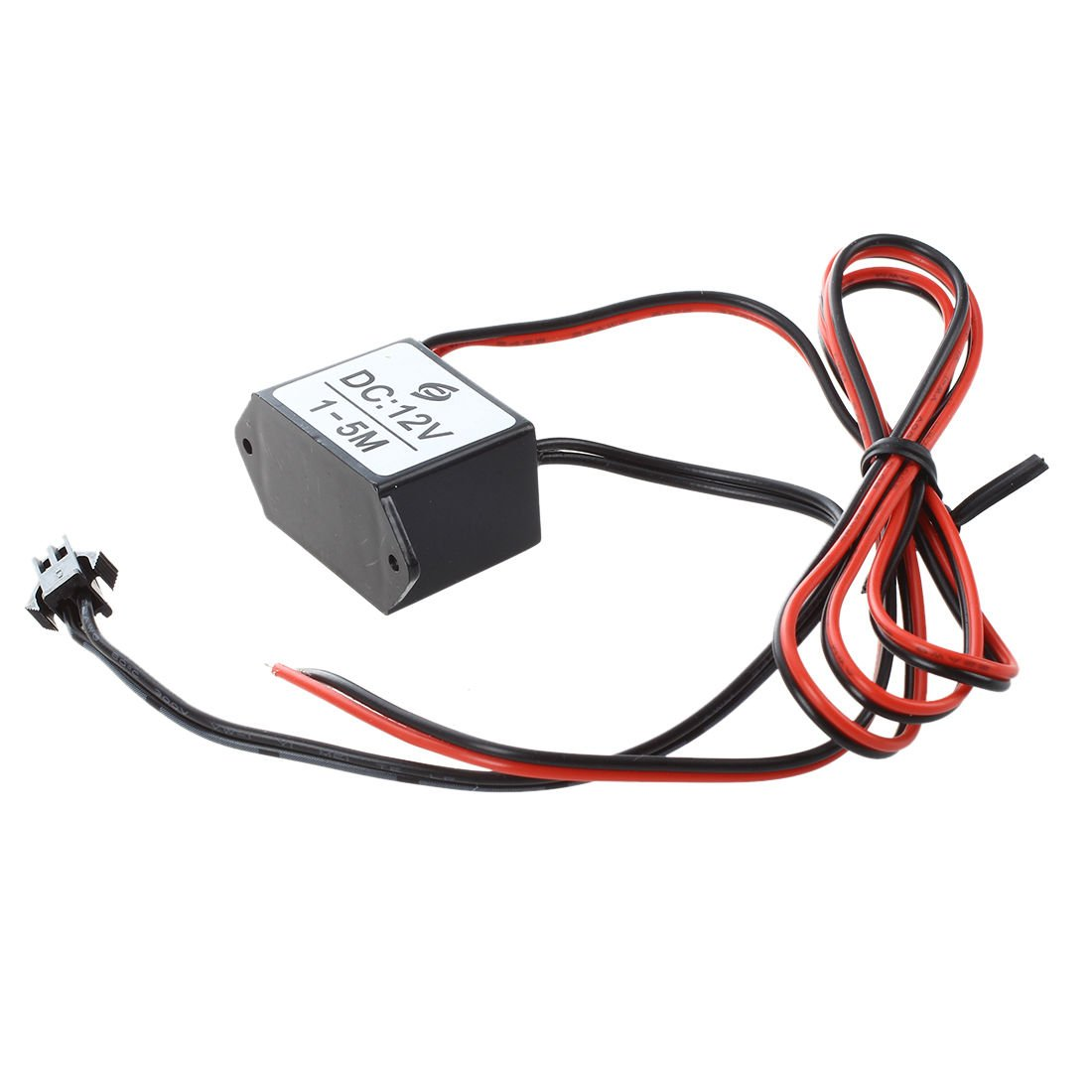 SODIAL(R) red-black cable DC 12V EL wire neon glow strip light driver unit inverter by SODIAL(R) (Image #3)