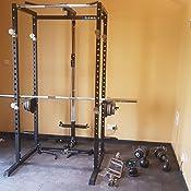 Ryno power rack squat cage multi gym black: amazon.co.uk: sports