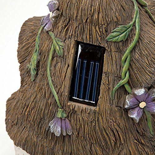 Bits and Pieces Maison de F/ée Solaire Donnez Vie /à Votre Maison de F/ée Magique dans Votre Jardin D/écoration Unique pour Gazon dext/érieur et Jardin