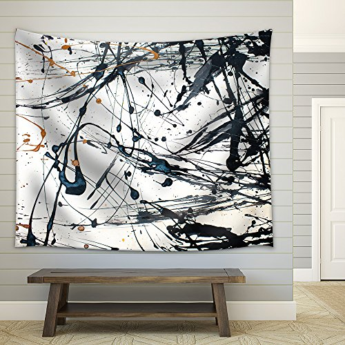 Abstract art creative background Hand painted background Fabric Wall