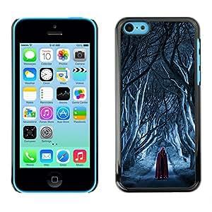 For Apple iPhone 5C Case , Assassin Red Cape Snow Death - Diseño Patrón Teléfono Caso Cubierta Case Bumper Duro Protección Case Cover Funda