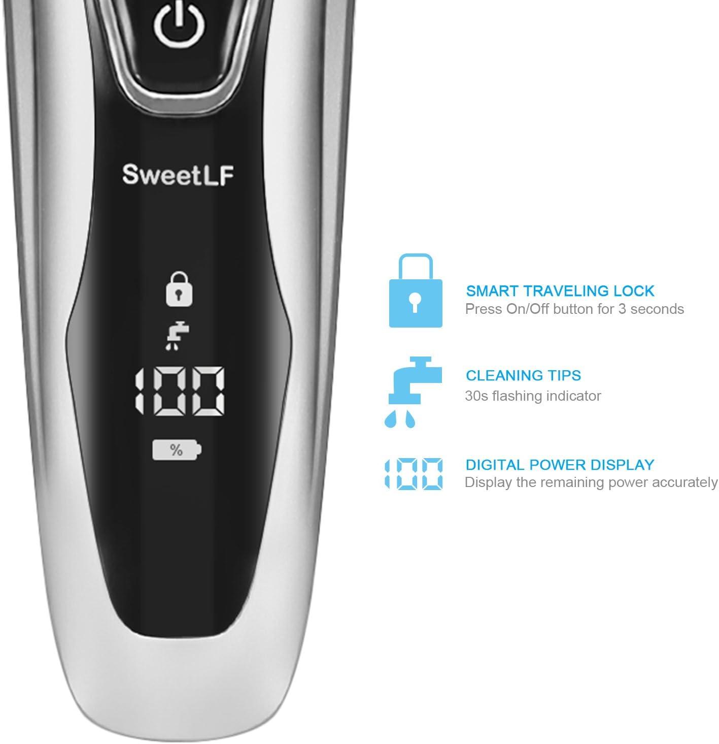 Afeitadora Electrica Hombre Máquina de Afeitar Inteligente con Display Digital, Uso en Húmedo y Seco: Amazon.es: Salud y cuidado personal
