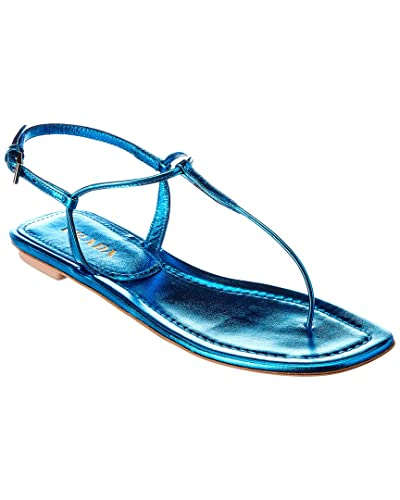 b79966042a0 Image Unavailable. Image not available for. Color  Prada Laminated Leather Thong  Sandal