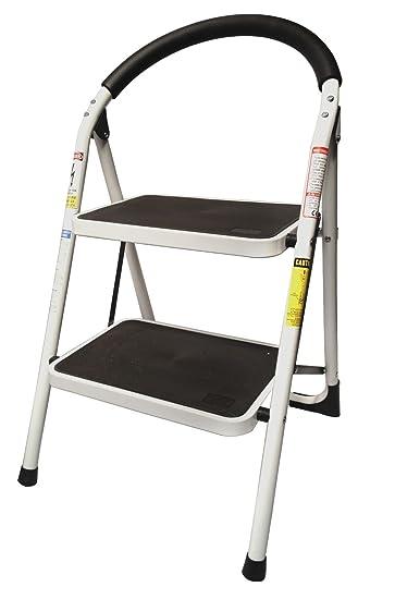 heavy duty steel reinforced folding step ladder stool lbs capacity home depot 2 foot domestic tread aluminium aluminum
