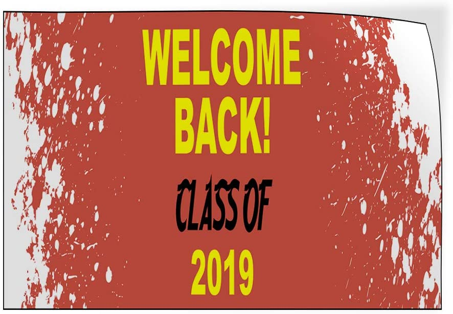 Custom Door Decals Vinyl Stickers Multiple Sizes Welcome Back Class of Year Lifestyle Welcome Back Signs Outdoor Luggage /& Bumper Stickers for Cars Red 14X10Inches Set of 10