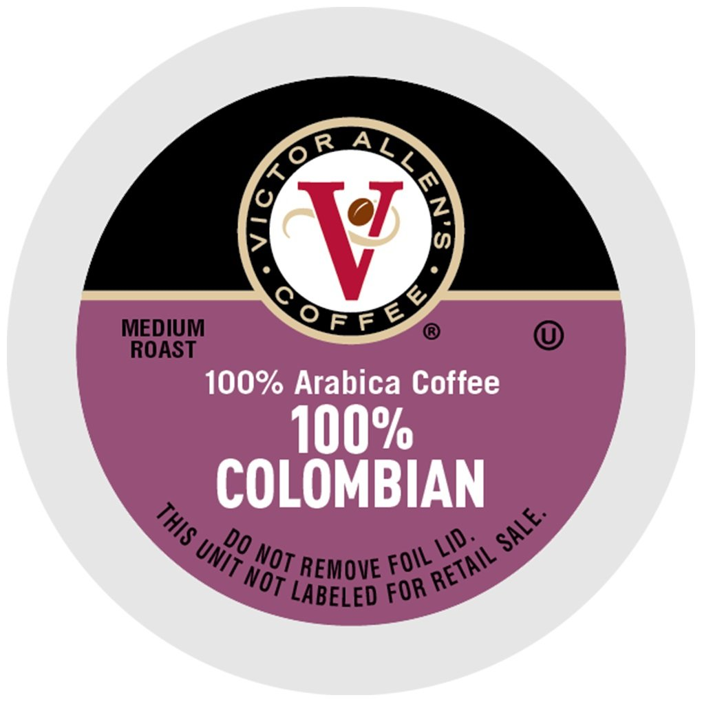 Victor Allen Coffee, 100% Colombian Single Serve K-cup, 200 Count (Compatible with 2.0 Keurig Brewers) by Victor Allen