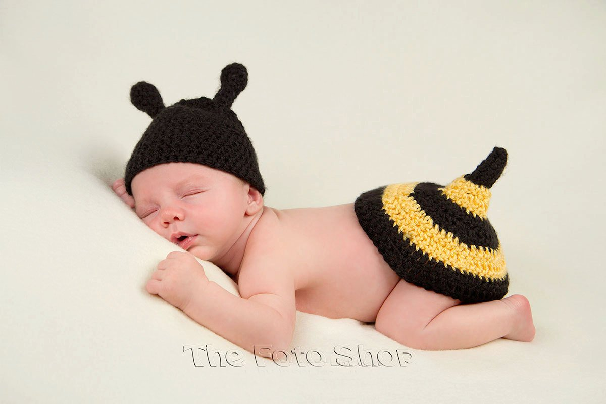 Amazon Newborn Baby Crochet Bumble Bee Beanie Hat Outfit In