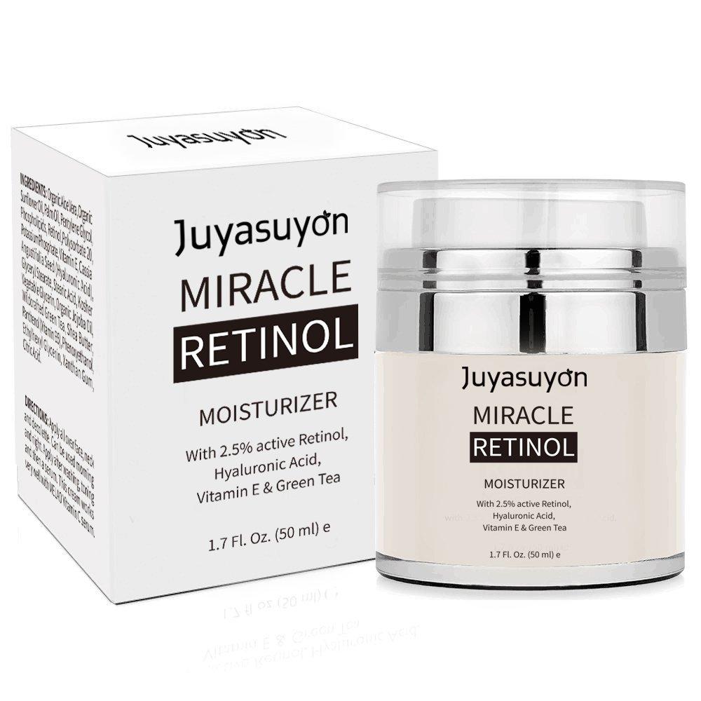 Crème hydratante au rétinol, niceEshop (TM) crème de rétinol pour le visage, la formule anti-vieillissement réduit les rides, avec 2,5% de rétinol actif, l'acide hyaluronique, la vitamine E l' acide hyaluronique