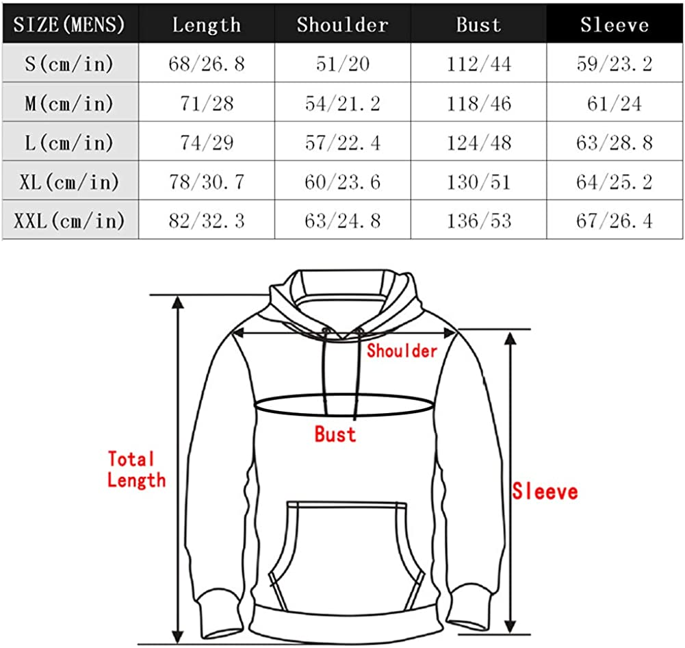 BenS Oscar Mens 3D Printed Athletic Hoodie Ultra Light Soft Winter Pullover Sweater Hooded Sweatshirt