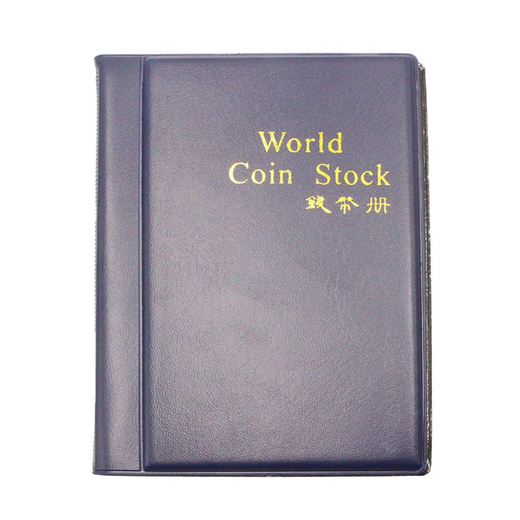 TAOtTAO New Collecting 120 Pockets World Coin Collection Storage Holder Money Album Book