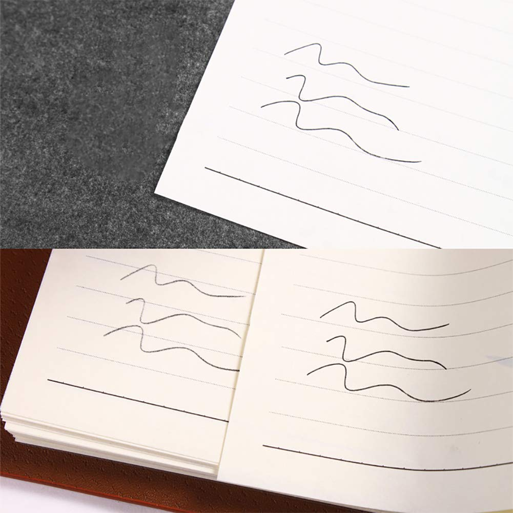 Novelfun 100 fogli Carta carbone Carta per tracciatura trasferimento grafite nera con stilo per goffratura per superfici in legno carta tela e altro 21 x 29,5 cm
