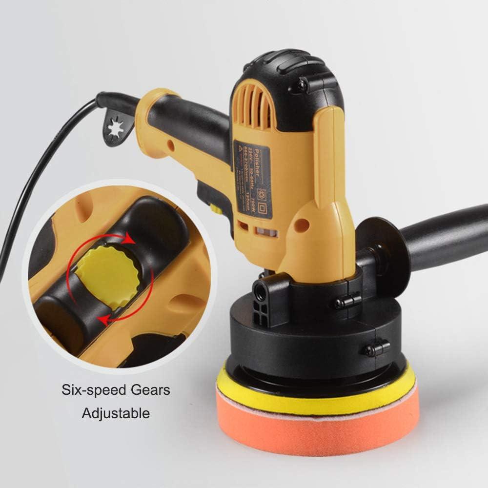 220V M/áquina de Pulir 700W Lijadora El/éctrica con 10PCS Papel de Lija 3PCS Esponjas Almohadilla de Pulido KKmoon Pulidora de Coche