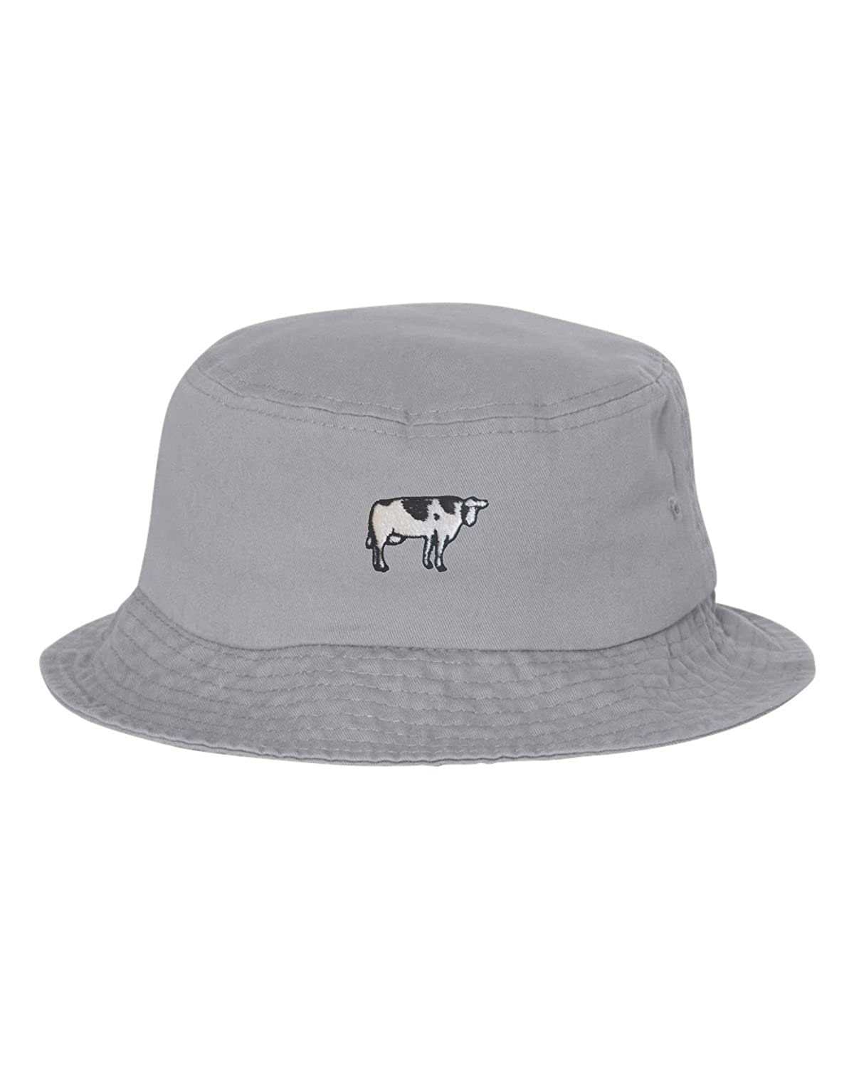 e626b3f952c Amazon.com  Go All Out One Size Black Adult Cow Embroidered Bucket Cap Dad  Hat  Clothing