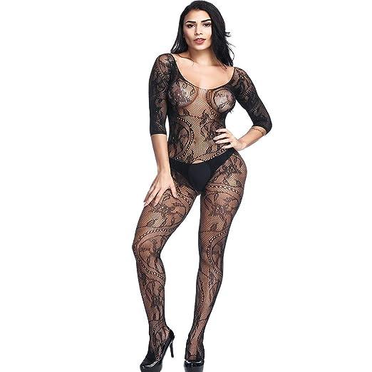 2b95caa65 Women Open Crotch Mesh Lingerie Hollow Soft Babydoll Underwear Bodystocking  Nightwear