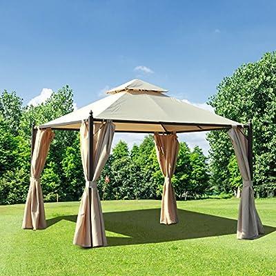 Outsunny – Pérgola de jardín - Impermeable - Medidas 3 x 3 mt con ...