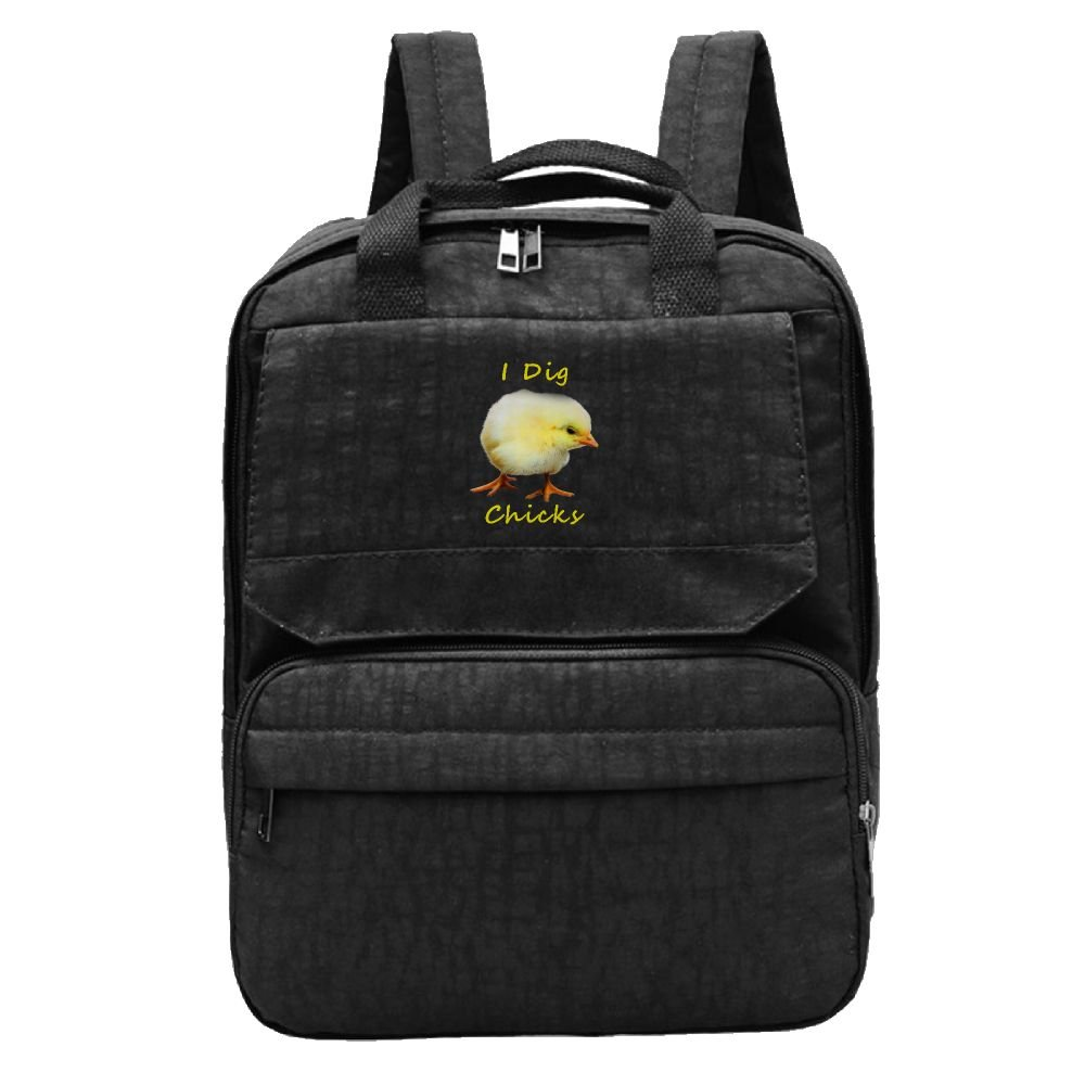 hot sale LU-4EVER Women's I Dig Chick Oxford Cloth Fashion Tennis Gift Backpack Black