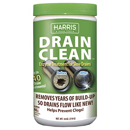 Amazon Com Harris Natural Enzyme Drain Cleaner And Clog Remover 40