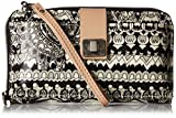 Sakroots Artist Circle Large Smartphone Cross-Body Phone Wallet, Black/Amp/White One World