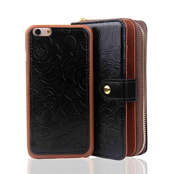 premium selection c3cd5 a4535 Amazon.com: RAYTOP® [Magnetic Phone Case Removable From Wallet] Flip ...