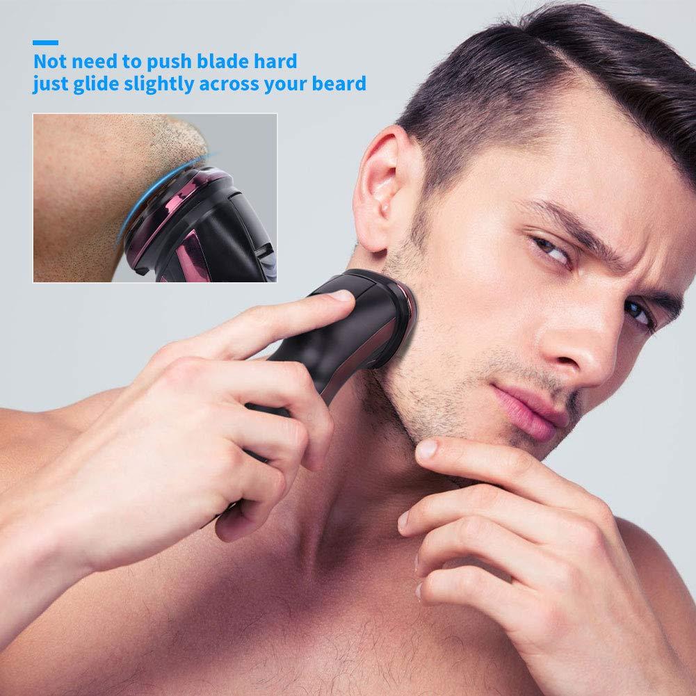 Cordless Men's Electric Razor Waterproof Wet & Dry Rechargeable 3D Beard Trimmer