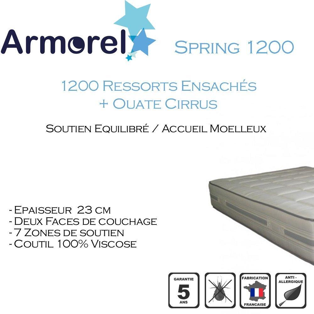 Armorel mas12160/200Spring 1200Matratze weiß
