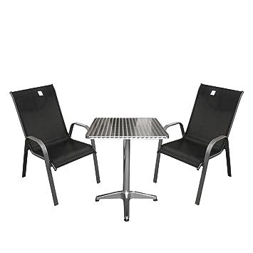 3 piezas. Bistro Escobillero Bistro Juego de balcón Muebles aluminio ...