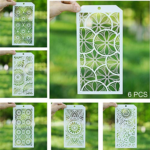 (DIY Decorative Stencil Template for Scrapbooking Paiting on Wall Furniture Crafts,Set of 6 (Sunflower))