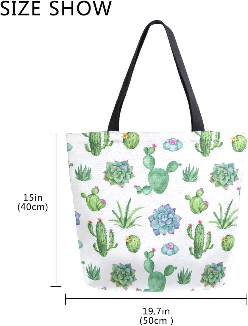 Womens Canvas Shoulder Tote Handbag Rainbow Sloth Candy Travel Handbags for Shopper Daily Purse Tote Bag