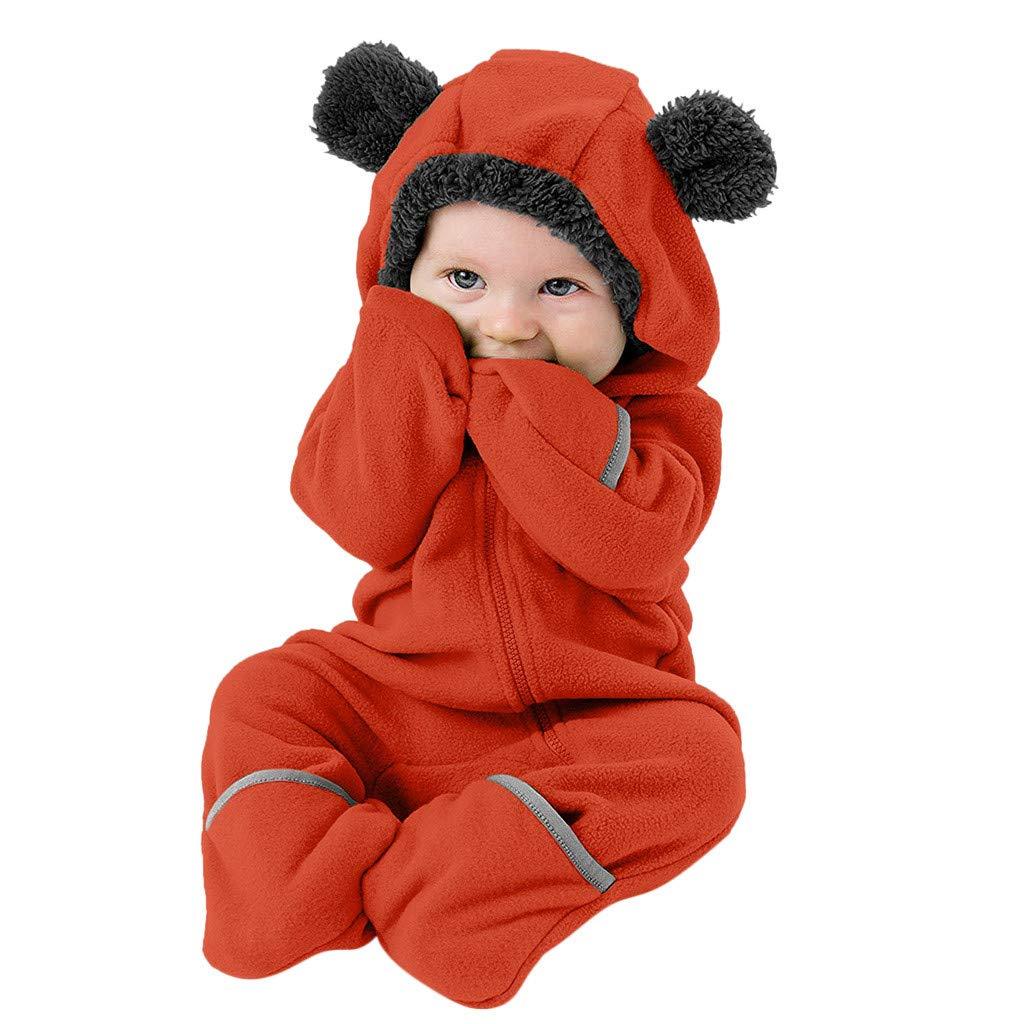 para ni/ños de 3 a 24 m Shenye Mono de Invierno para beb/é con Orejas de Forro Polar