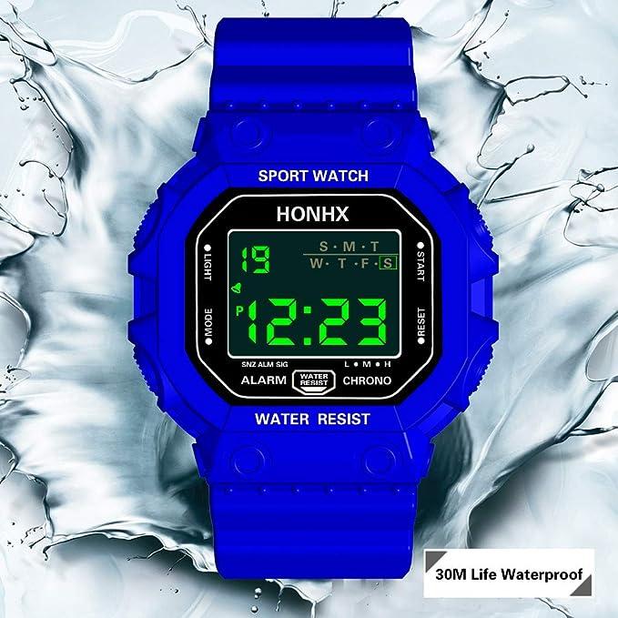 Montre de Sport étanche avec Alarme/Chronomètre, Large Poignet ...