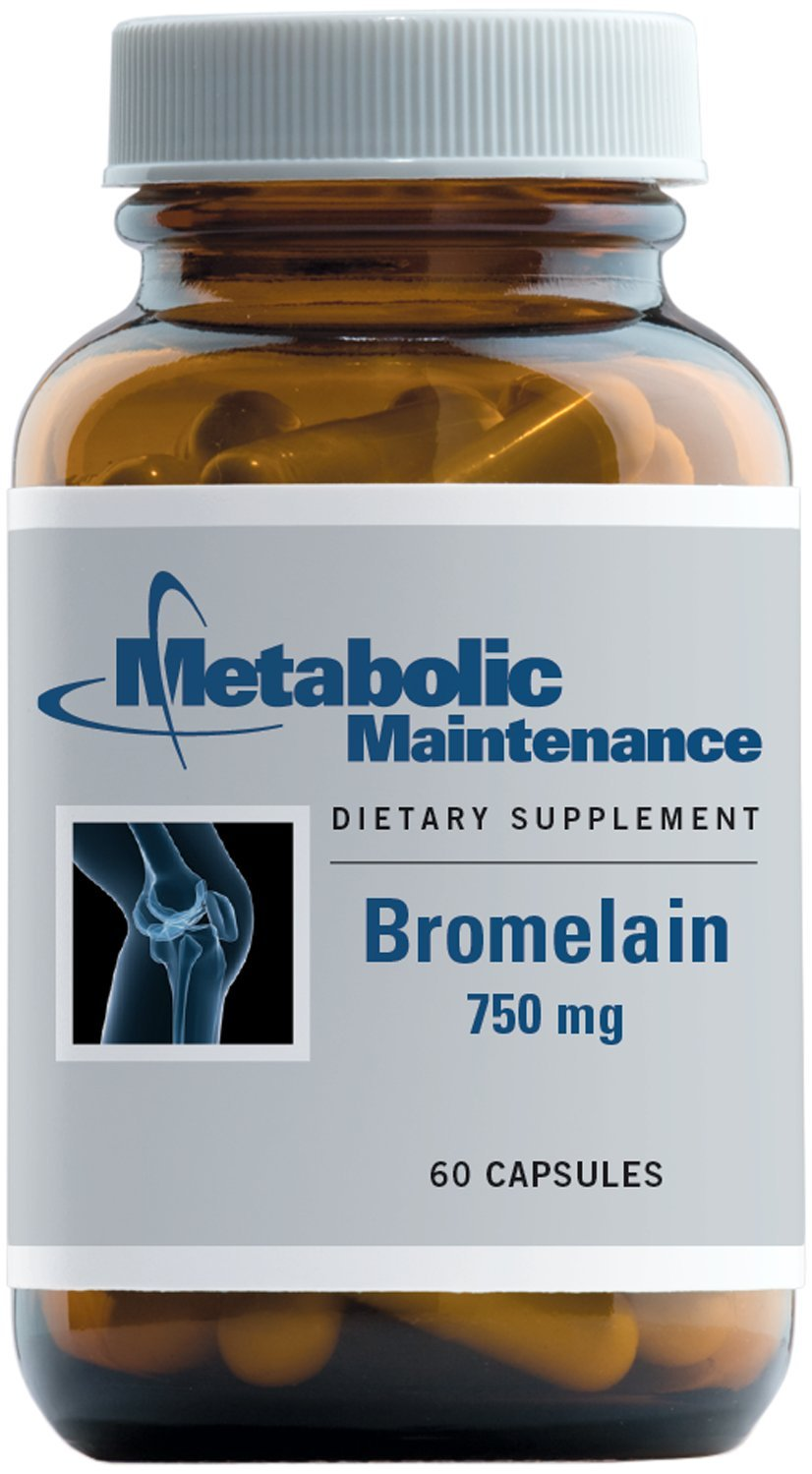 Metabolic Maintenance - Bromelain - 750 mg, Enzyme for Protein Digestion Support, 60 Capsules