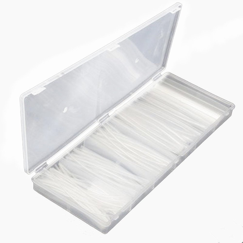 Gfortune 160pcs 10cm 6 Different Dia Clear Heat Shrink Tubing Tube Kit Cable Insulation Wire Sleeving Wrap for Indusry