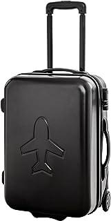 Trolley da viaggio bagaglio a mano con ruote rullo trolley nero policarbonato 40104
