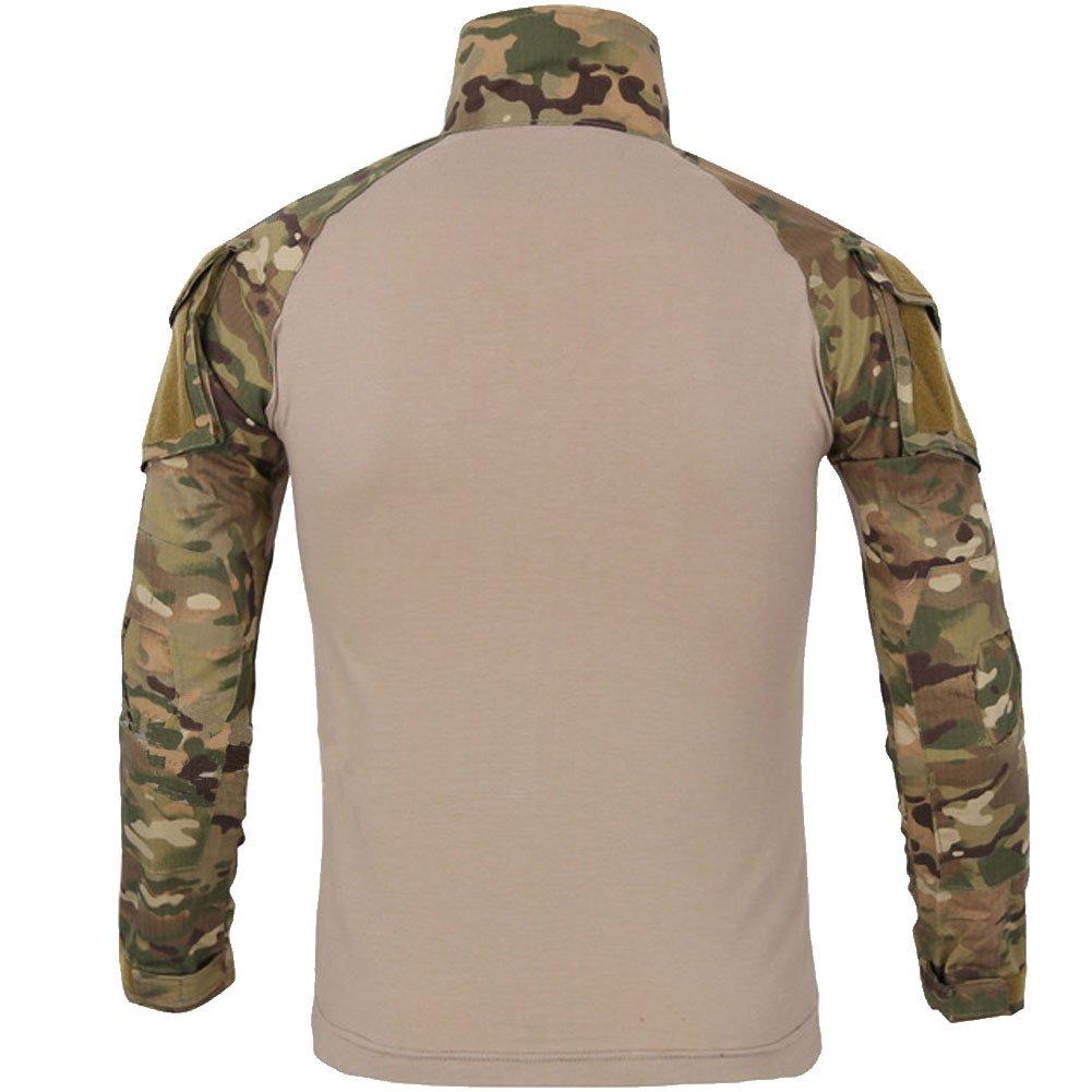 FashionYoung Camuflaje Táctico Uniforme Camo Paintball Airsoft Ropa Camisa de Combate Militar Pantalones Cargo con Rodilleras: Amazon.es: Ropa y accesorios