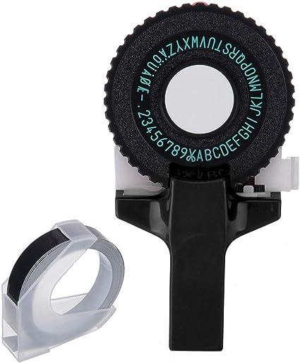 SMTHOME Black Manual DIY Gofrado 3D Label Maker MINI Letter Number ...