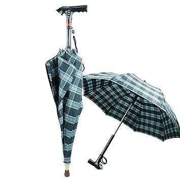 QIAN Paraguas multifuncional MP3 bastón palillo paraguas inteligente de doble stick sartén deslizamiento iluminados