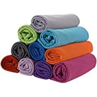 Cooling Towels,GJT 10 Colors Neck Reusable Chill Cool Absorbent Sports Towel for Golf Travel Gym Outdoor Sports Camping…
