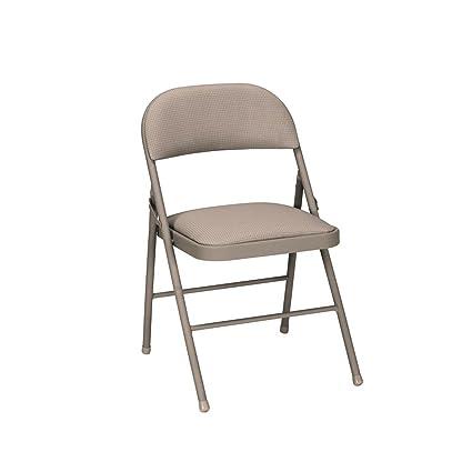 Cosco Fabric 4-Pack Folding Chair, Antique Linen - Amazon.com: Cosco Fabric 4-Pack Folding Chair, Antique Linen