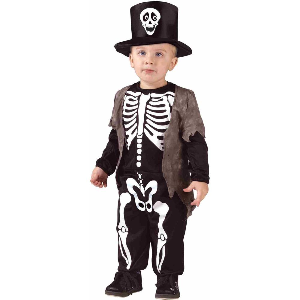 Fun World Happy Skeleton Toddler Costume, Large 3T-4T, Multicolor 1516L
